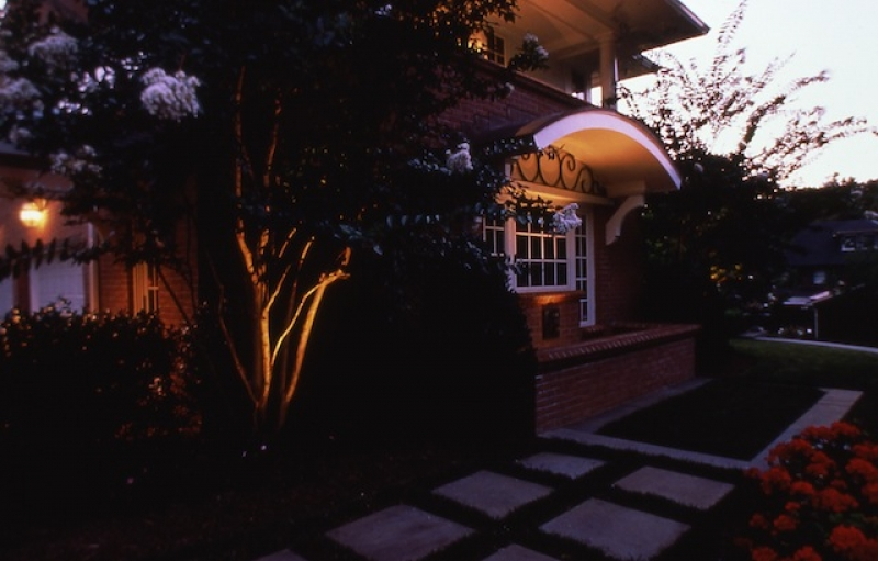 showing off your yard with landscape lighting columbia md